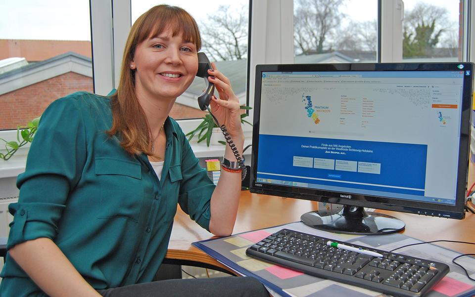 Foto: Maike Hansen betreut das Praktikumsnetzwerk in Nordfriesland.