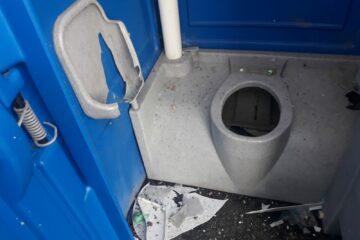 Schaden Toilette