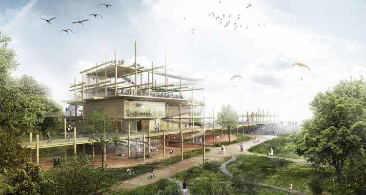 Holzer Kobler Architekturen Landschaftsarchitektur Hager Partner Zeichnung Familientreff SPO